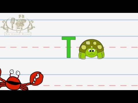 Write the letter T | Alphabet Writing lesson for children | The Singing Walrus