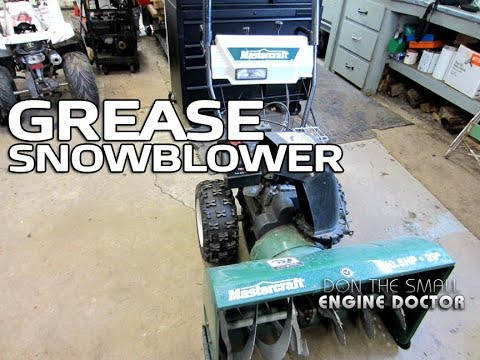 HOW-TO Grease A Snowblower Transmission