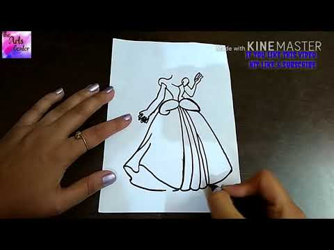 How to draw CUTE CINDERELLA!! Drawing for kids || by The Arts Center