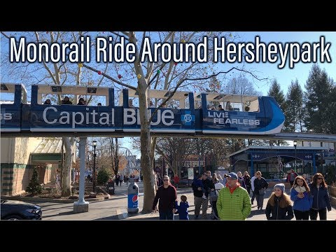 Taking a Ride on the Monorail at Hersheypark