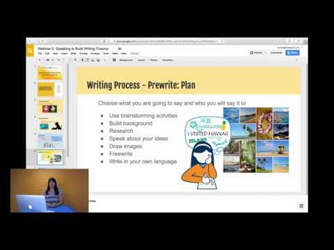 Speaking to Build Writing Fluency