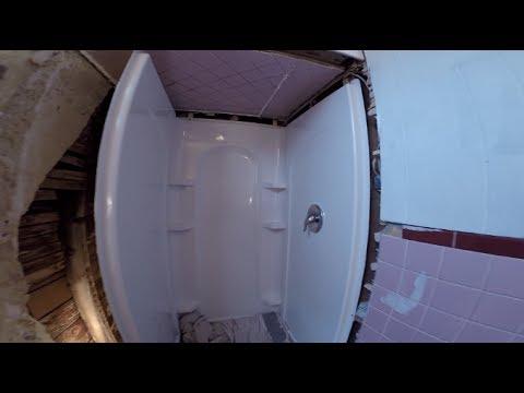 Sterling 4 piece shower installed Part 1