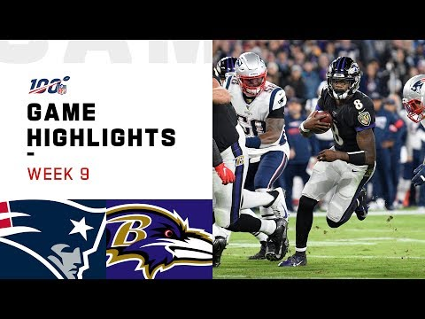 Patriots vs. Ravens Week 9 Highlights | NFL 2019