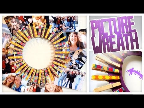 DIY Clothespin Picture Wreath! - Do It, Gurl