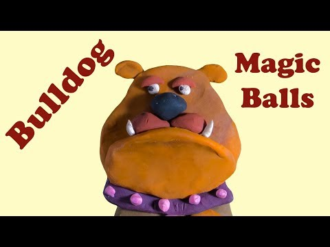 Let's make a cartoon plasticine Bulldog. Funny claymation for kids.