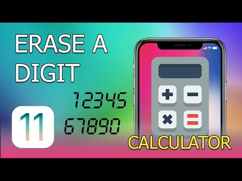 How to Erase a Digit in Calculator on iPhone (iOS 11)