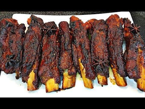 Honey Glazed Ribs Recipe -  Sticky pork ribs (oven baked ribs / roasted ribs)