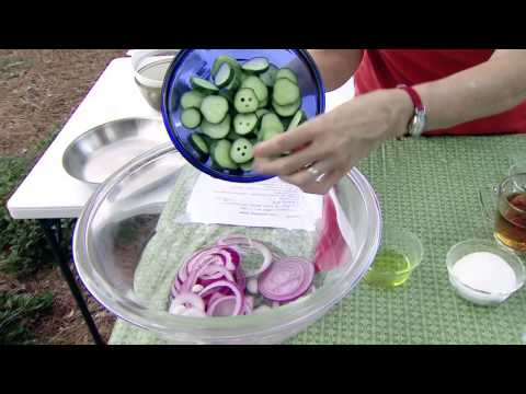 Cucumber, Tomato, and Onion Salad