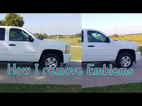 How to remove emblems (Debadge of my Silverado)