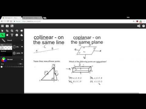 Collinear and Coplanar Points