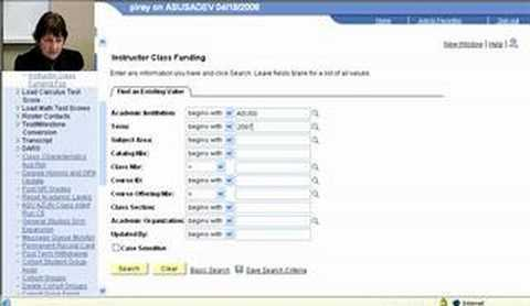 Using The Search Function in Instructor Class Funding