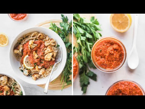 Pasta with Romesco and Roasted Cauliflower | Easy Recipe