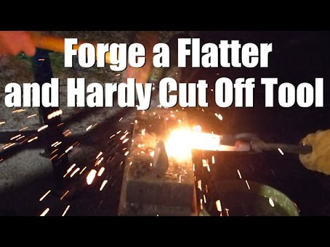 VLOG #10 - Forging a flatter and hardy cut off tool for the first time