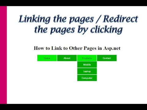 how to link to other pages in asp.net