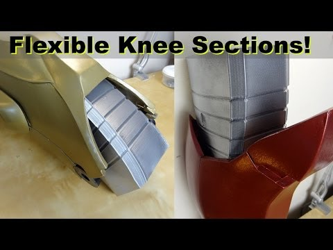 XRobots - 3D Printed Iron Man Cosplay Flexible Knee Sections, Printed in Ninjaflex Rubber