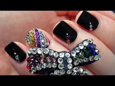 Bejewelled Rhinestone Nails & Removal   |  ArcadiaNailArt