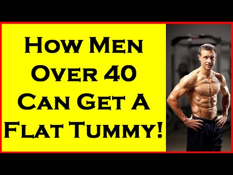 How Men Over 40 Can Get A Flat Tummy!   Men Over 50