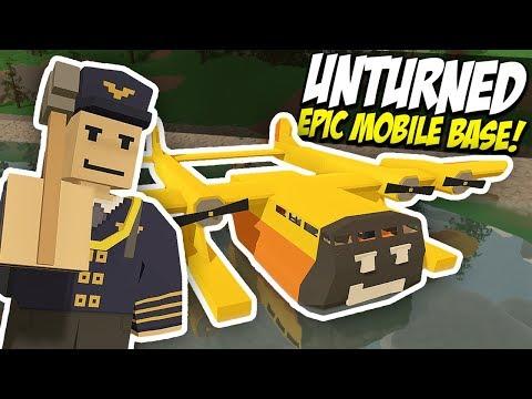 HUGE EPIC PLANE BASE - Unturned Mobile Base