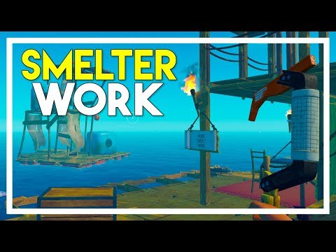 Raft Survival Game - Part 7: Working Towards the Smelter!