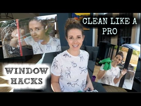 CLEANING TIPS | HOW TO CLEAN WINDOWS LIKE A PRO | POUNDLAND HACKS