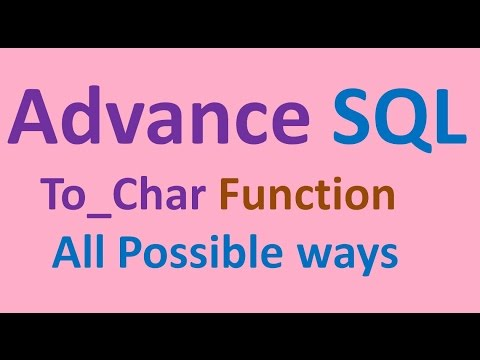 SQL To_char Function with excellent examples