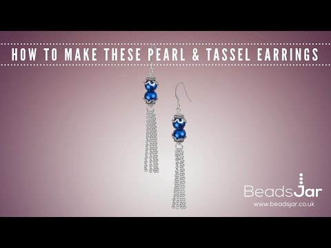 Learn How To Create These Pearl & Tassel Earrings!