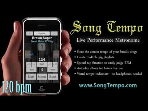 ★ 120 BPM ★ Metronome - 10 Minutes Click Track - www.SongTempo.com