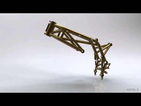 Moto R Design SV650 Steel Trellis Frame