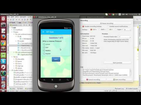 Android Quiz Application Demo