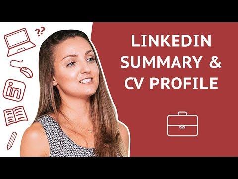 How to write LinkedIn Summary & CV Profile