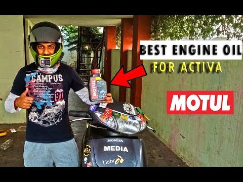 BEST ENGINE OIL FOR ACTIVA || HOW TO CHANGE ENGINE OIL || MOTUL
