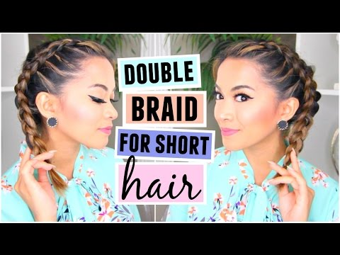 How To Double Dutch/French Braid For Short Hair Hairstyle!