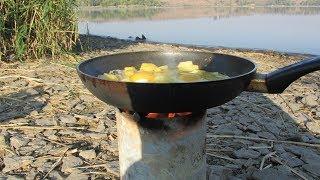 Печка для рыбалки и отдыха.  своими руками