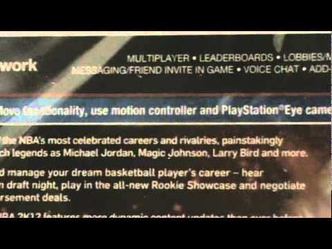 NBA 2K12 PS3 Unboxing