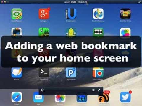 ipad making  a website bookmark