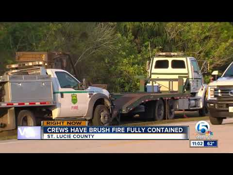 Becker Rd. brush fire 100% contained, fire crews monitor overnight conditions