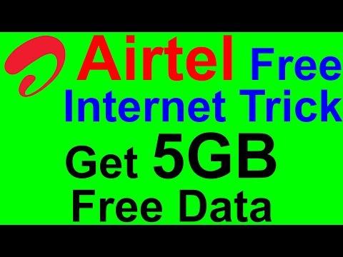 Airtel Free Internet-Tricks To Get 5GB Free 3G Data