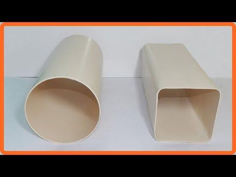 Transforme o cano de pvc 150mm no formato quadrado