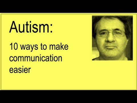 Autism: 10 ways to make communication easier