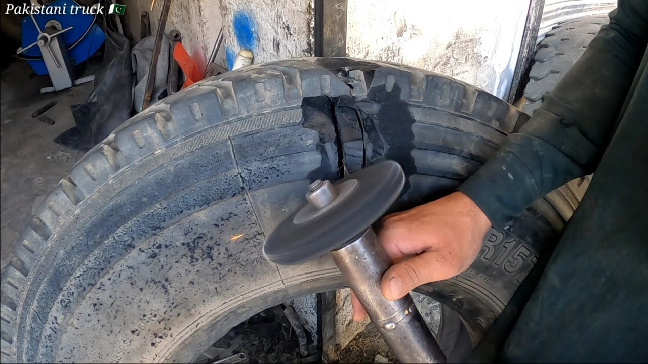 how to repair a harvested old tire in pakistan repair a broken tire