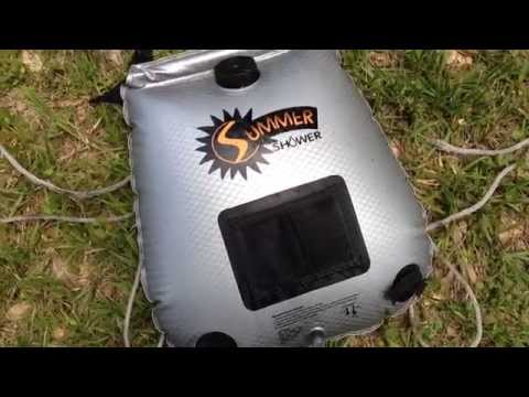 Review of the Summer Shower solar camp shower - off grid shower