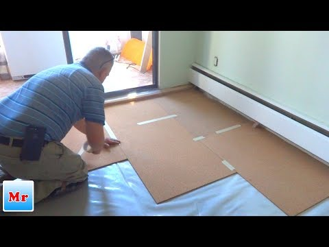 How to Install Cork Underlayment for Laminate Flooring Installation - Mryoucandoityourself
