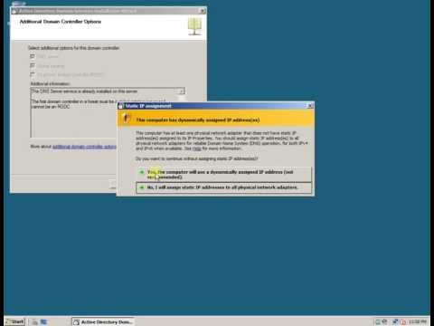 Domain Controller Instalation and Configuration - Windows Server 2008