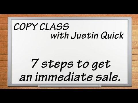 Copy Class - 7 Steps to Get an Immediate Sale
