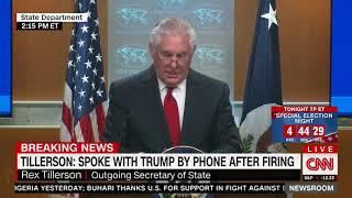 Full Rex Tillerson remarks after firing as secretary of state
