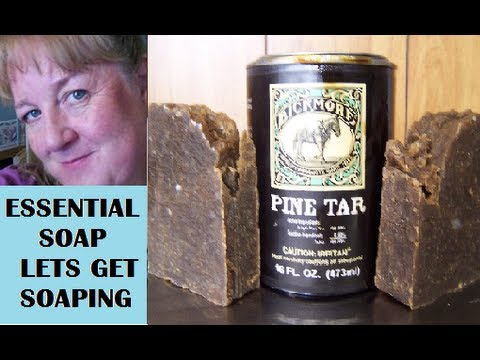 How to Make Pine Tar Soap, from Scratch with Recipe