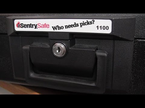Sentry Safe 1100 Picked... without a pick.