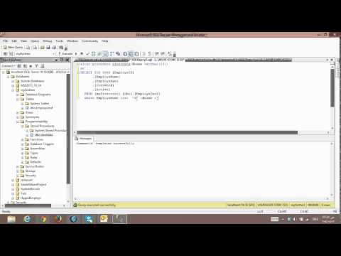 Tuition SQL Server 4# stored procedure