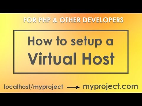 How to Create and Setup a Virtual Host on localhost in Hindi | vishAcademy
