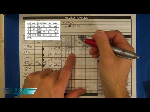 Ep. 114: X/C Navigation Log | VFR Cross Country Nav Log Calculations